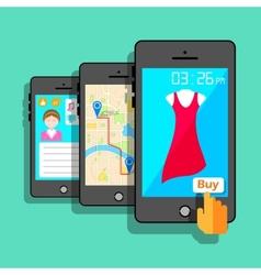 Mobile Application Concept vector image