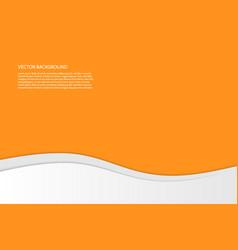 modern simple wavy orange background vector image