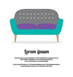 Modern Sofa Vintage Style vector