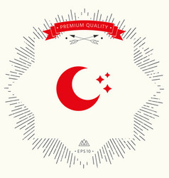 moon stars icon vector image