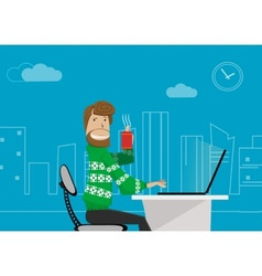 office worker at home vector image