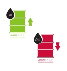 Oil barrels with indicators vector