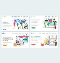 Online trading platform b2b marketplace website vector