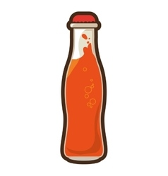 Orange bottle soda coke icon design vector