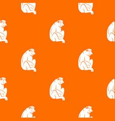 Orangutan pattern seamless vector