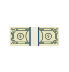 Packing in bundles of banknotes isolated icon vector