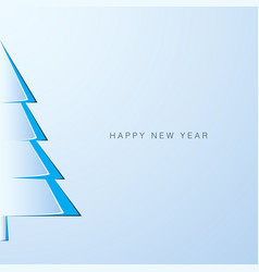 paper new year tree new year greeting card vector image