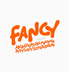 playful kids style font vector image