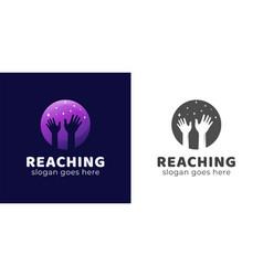 Reaching dream or success gradient logo design vector