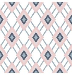 Rhombus geometric pastel pink seamless pattern vector image