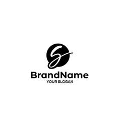 s stylish logo design vector image