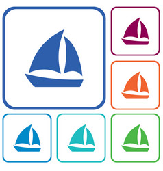 sailboat icon simple vector image