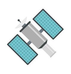 satelite icon flat style vector image