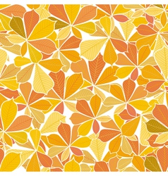 seamless pattern from autumn leaves vector image