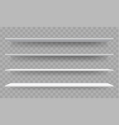 Shelves on wall perspective isolated 3d shelf vector