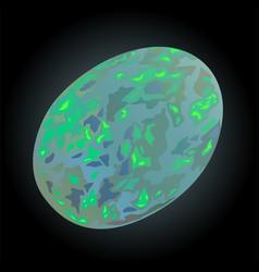 Shiny white opal vector