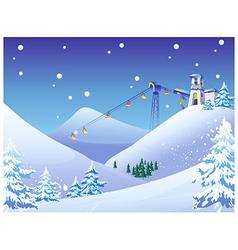 Ski Resort Background vector