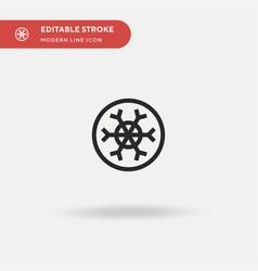 snowflake simple icon symbol vector image