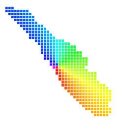 Spectral dot sumatra island map vector