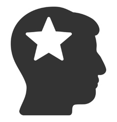 Star Head Flat Icon vector image