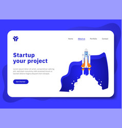 startup your project with spaceship explorer vector image