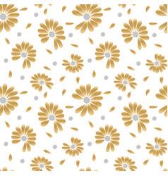 summer golden seamless pattern vector image