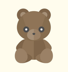Teddy bear icon vector