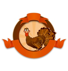 Thanksgiving turkey cartoon character vector