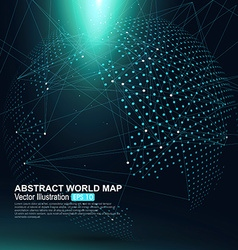 Three-dimensional abstract planet Dot world map vector image