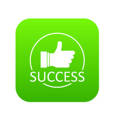 Thumbs up icon green vector