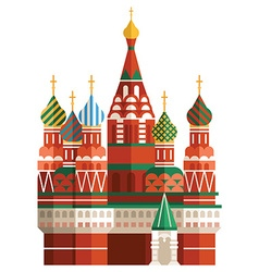 Tourism concept flat style Saint Basils Cathedral vector