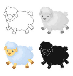 toy sheep icon in cartoon style isolated on white vector image