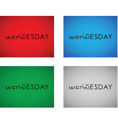 Tuesday to wednesday turning text set vector