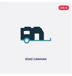 two color road caravan icon from transport vector image