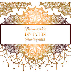 Vintage baroque wedding invitation template vector