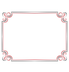 Vintage frame Black with red vector