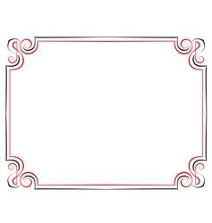 vintage frame Black with red vector image
