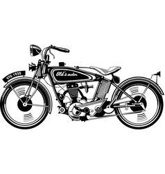 vintage motorbike side view black vector image