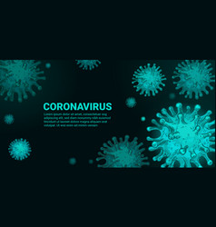 virus concept covid-19 coronavirus infection vector image