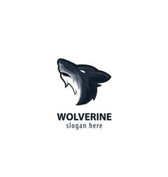 Wolf head logo- white background vector