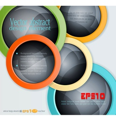 colorful abstract 3d balls design elements vector image