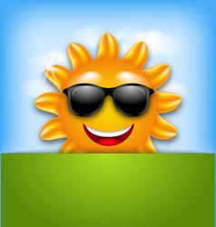 Cool happy summer sun in sunglasses vector