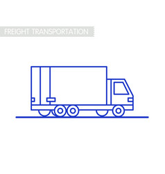 freight transportation concept delivery service vector image