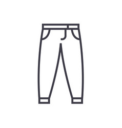 pantstrousers line icon sign vector image