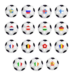 Set of Soccer Balls vector image