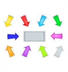 simple arrows vector image vector image