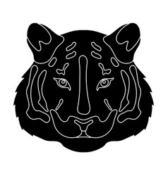 tiger icon in black style isolated on white vector image