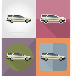 transport flat icons 02 vector image