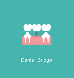 bridges teeth flat icon vector image vector image
