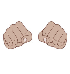 fists vector image vector image